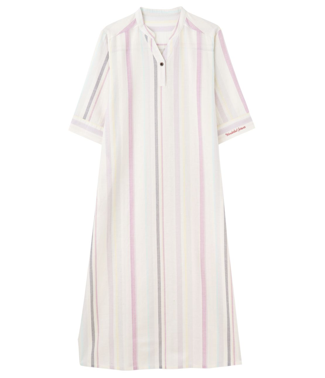 Cotton linen summer shirt dress