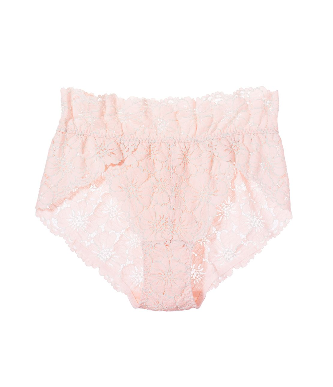 Cotton blend lace panties