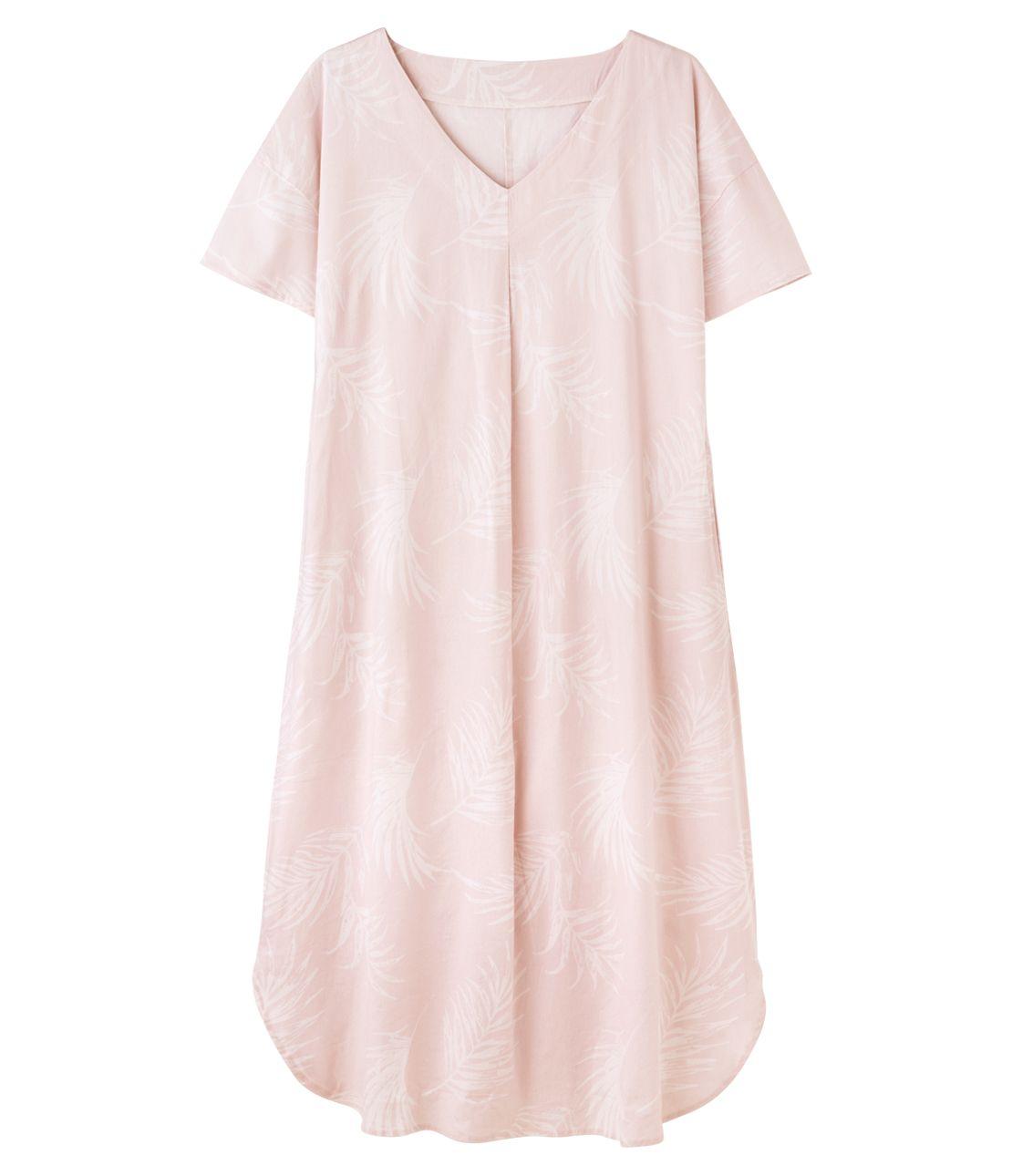Cotton rayon linen tack long dress