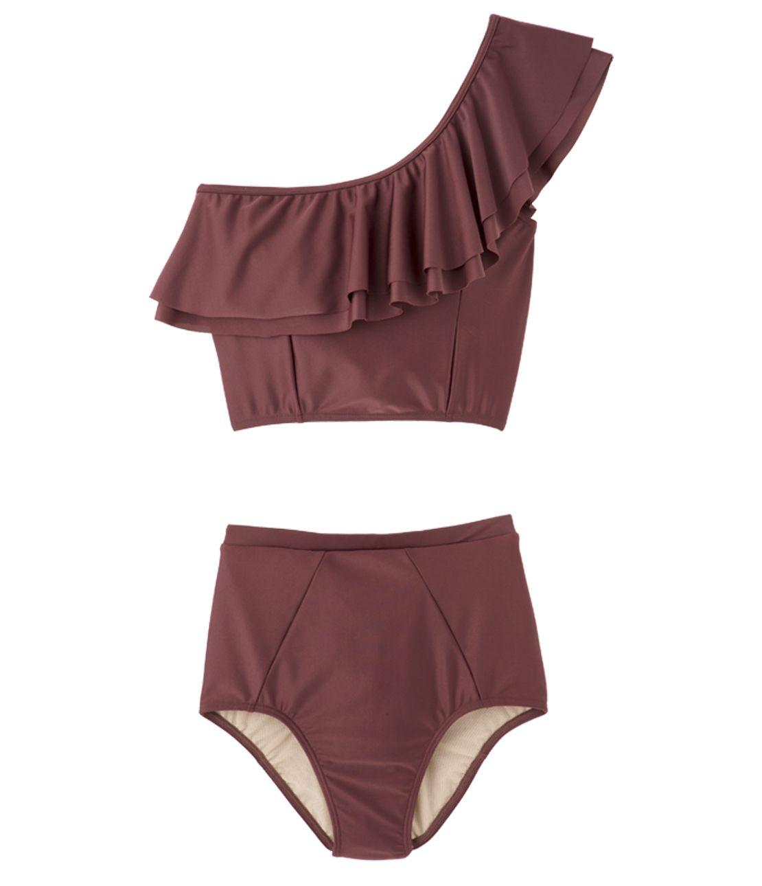 Asymmetric Ruffle Bikini
