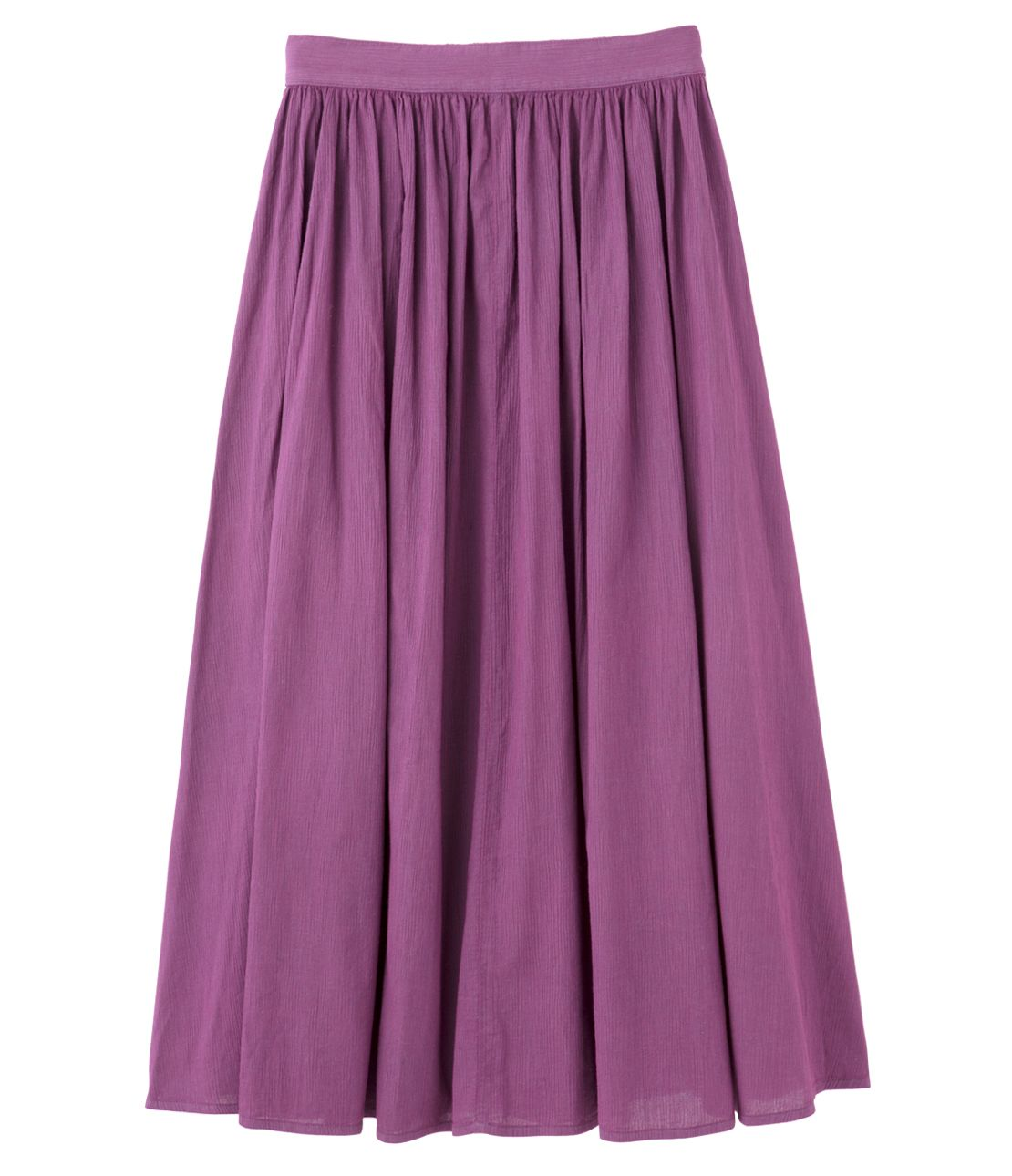 HARIESTER crepe Gathered maxi skirt