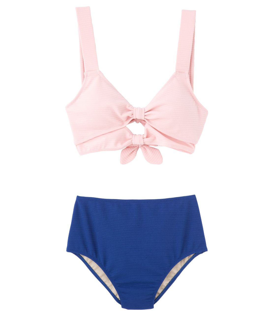 YM ribbon high-waisted bikini