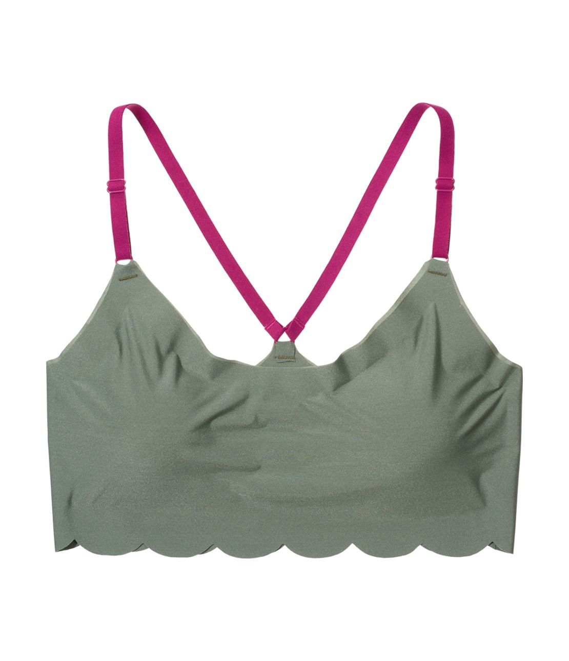 YM simple scalloped bra top