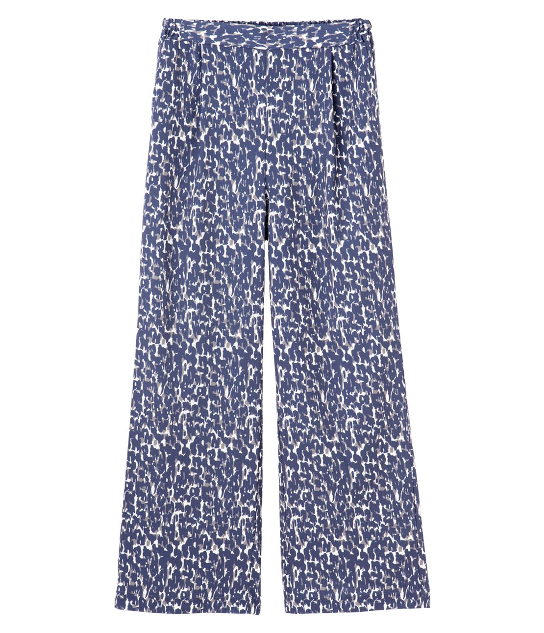 Printed tuck pants