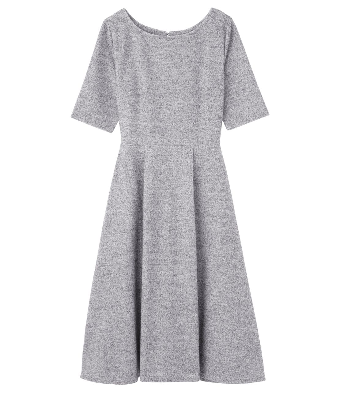 Tweed like Jersey Midi Dress