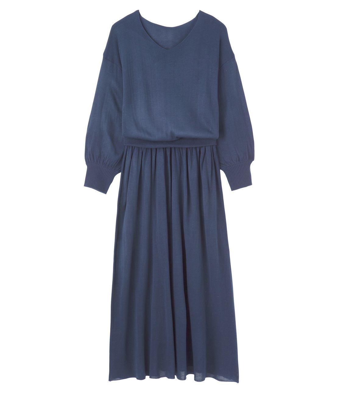 Flare knit dress