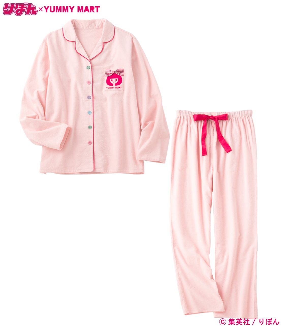 YM ribbon shirt pajamas