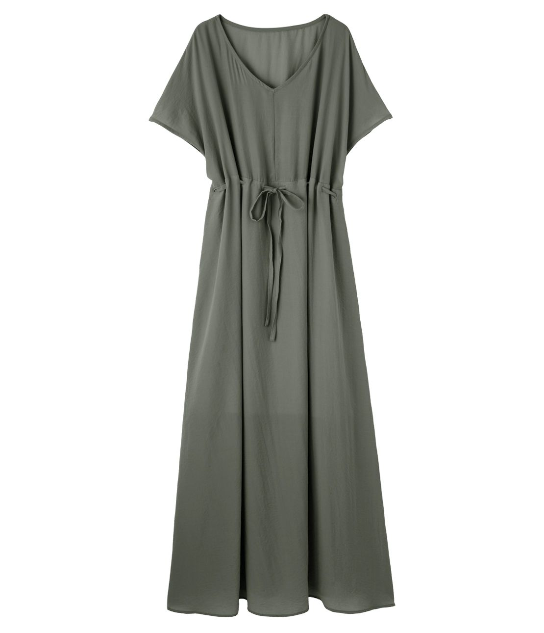 V-neck long dress